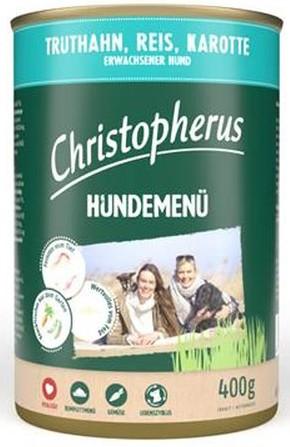 Christopherus Fleischmenü mit Truthahn, Reis und Karotte 400 g