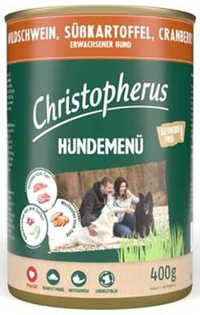 Christopherus Fleischmenü mit Wildschwein, Süßkartoffel und Cranberry 400 g
