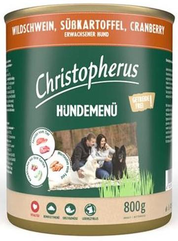 Christopherus Fleischmenü mit Wildschwein, Süßkartoffel und Cranberry 800 g