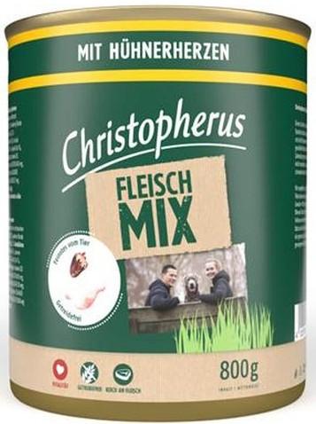 Christopherus Fleischmix mit Hühnerherzen 6 x 800 g