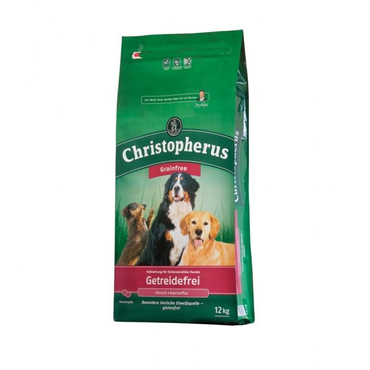 Christopherus Getreidefrei mit Hirsch und Kartoffel 2 x 12 kg (Staffelpreis)