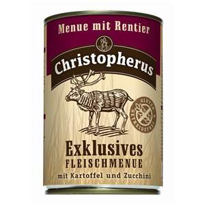 Christopherus Menü mit Rentier Dose 400 g