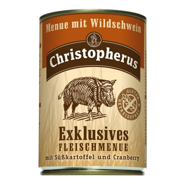 Christopherus Menü mit Wildschwein Dose 6 x 400 g