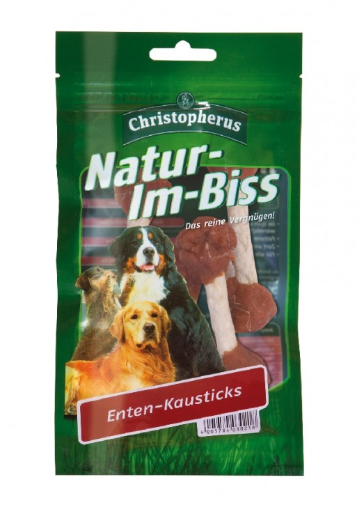 Christopherus Snack Natur im Biss Entenkausticks 12 x 70 g