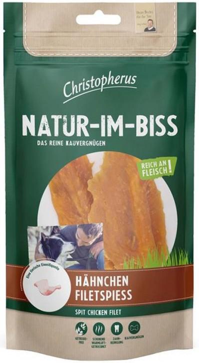 Christopherus Snack Natur im Biss Hähnchen Filetspiess 12 x 70 g