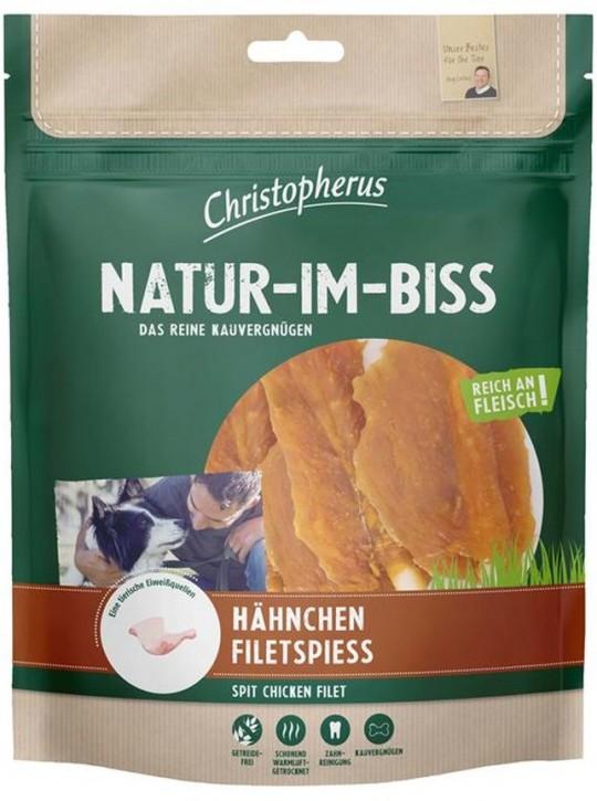 Christopherus Snack Natur im Biss Hähnchen Filetspiess 5 x 300 g