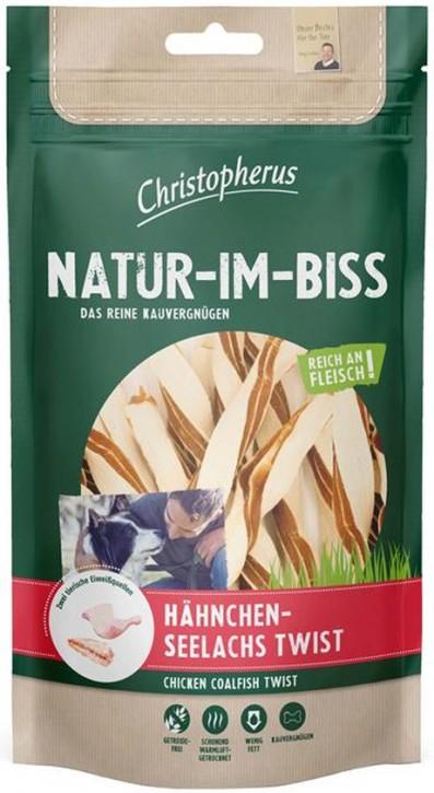 Christopherus Snack Natur im Biss Hähnchen Seelachs Twist 12 x 70 g