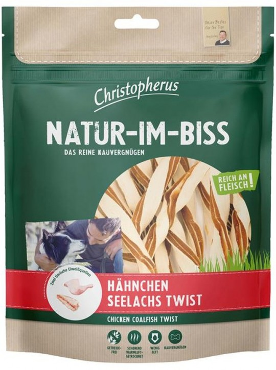 Christopherus Snack Natur im Biss Hähnchen Seelachs Twist 5 x 300 g