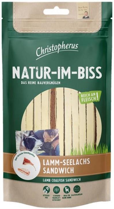 Christopherus Snack Natur im Biss Lamm Seelachs Sandwich 12 x 70 g