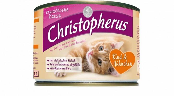 Christopherus für die erwachsene Katze Rind & Huhn Dose 200 g