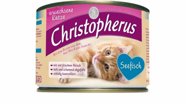 Christopherus für die erwachsene Katze Seefisch Dose 200 g