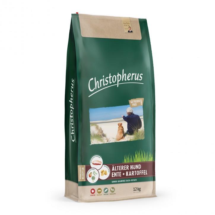 Christopherus Älterer Hund Ente & Kartoffel 4 kg oder 12 kg (SPARTIPP: unsere Staffelpreise)