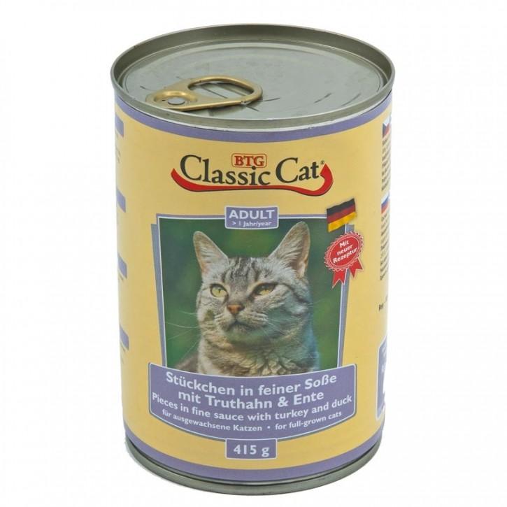 Classic Cat mit Truthahn und Ente 415 g