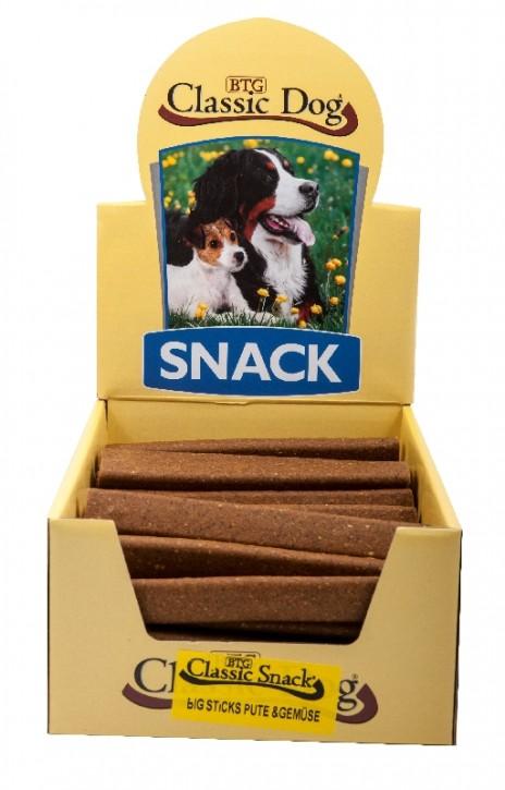 Classic Dog Snack Big Sticks Pute und Gemüse 50 Stück