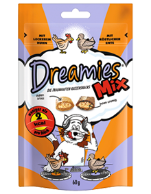 Dreamies Cat Mix mit Huhn & Ente 6 x 60 g
