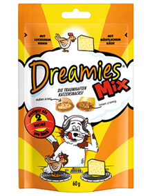 Dreamies Cat Mix mit Huhn & Käse 6 x 60 g