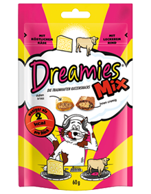 Dreamies Cat Mix mit Käse & Rind 6 x 60 g