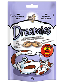 Dreamies Cat mit Ente 6 x 60 g