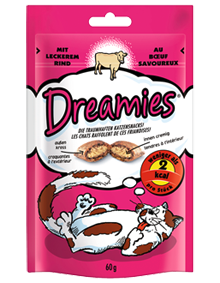 Dreamies Cat mit Rind 6 x 60 g