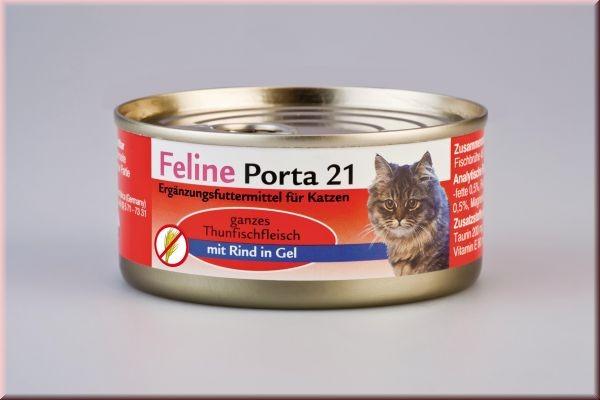 Feline Porta 21 Thunfisch mit Rind 90 g, 156 g oder 400 g