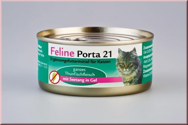 Feline Porta 21 Thunfisch mit Seetang 90 g, 156 g oder 400 g