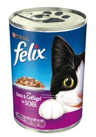 Felix Leckerbissen in Soße mit Ente & Geflügel 24 x 400 g