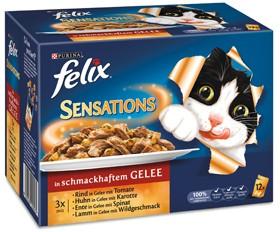 Felix Sensations Fleisch Mix 12-er Multipack 72 x 100 g