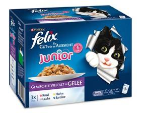 Felix So gut wie es aussieht Junior in Gelee 12-er Multipack 72 x 100 g