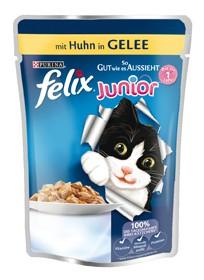 Felix So gut wie es aussieht Junior mit Huhn in Gelee 20 x 100 g