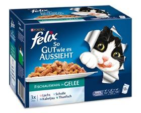 Felix So gut wie es aussieht mit Fisch in Gelee 12-er Multipack 72 x 100 g