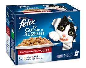 Felix So gut wie es aussieht mit Fleisch in Gelee 12-er Multipack 72 x 100 g