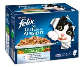 Felix So gut wie es aussieht mit Gemüse in Gelee 12-er Multipack 72 x 100 g