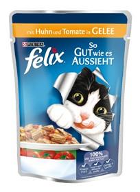 Felix So gut wie es aussieht mit Huhn & Tomate in Gelee 20 x 100 g