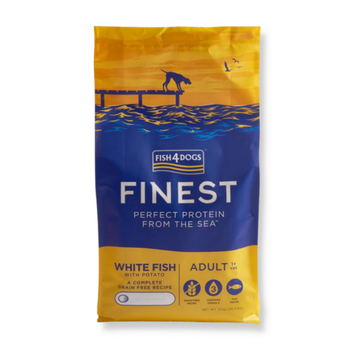 Fish4Dogs Finest Ocean White Fish Adult 12 kg