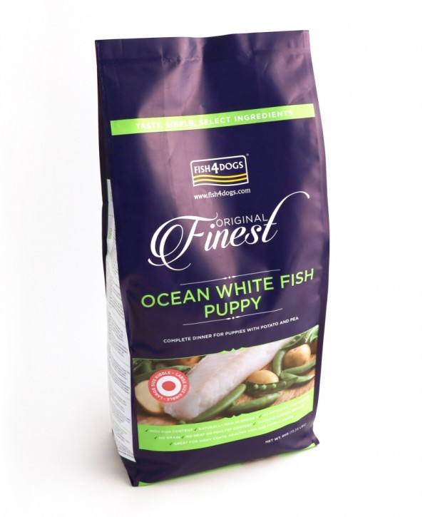 Fish4Dogs Finest Ocean White Fish Puppy Large Bite 6 kg (SPARTIPP: unsere Staffelpreise)