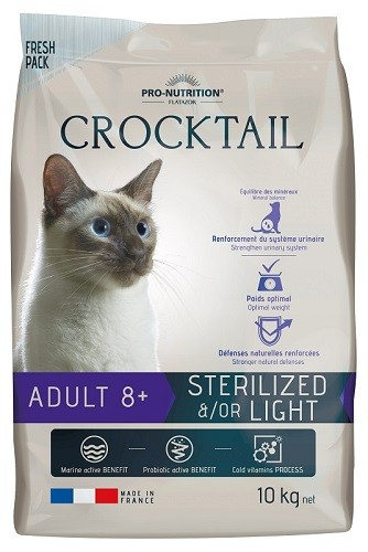 Flatazor Cat Crocktail Adult 8+ Sterilized 2 kg oder 10 kg (SPARTIPP: unsere Staffelpreise)