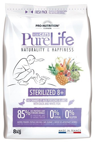 Flatazor Pure Life for Cats Sterilized 8+, 2 kg oder 8 kg (SPARTIPP: unsere Staffelpreise)