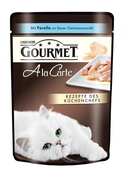 Gourmet A la Carte mit Forelle an feiner Gemüseauswahl Portionsbeutel 24 x 85 g