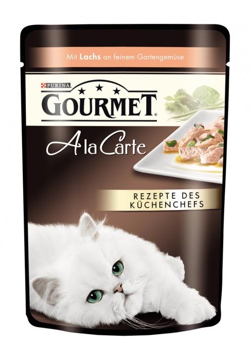 Gourmet A la Carte mit Lachs an feinem Gartengemüse Portionsbeutel 24 x 85 g
