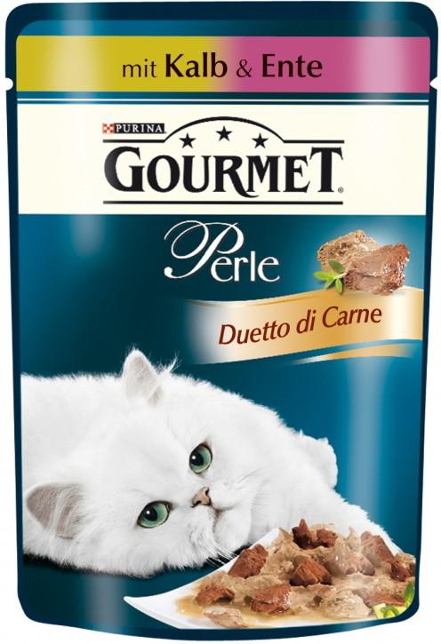 Gourmet Perle Duetto di Carne Kalb & Ente Portionsbeutel 24 x 85 g