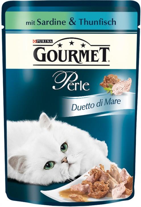 Gourmet Perle Duetto di Mare mit Sardine & Thunfisch Portionsbeutel 24 x 85 g