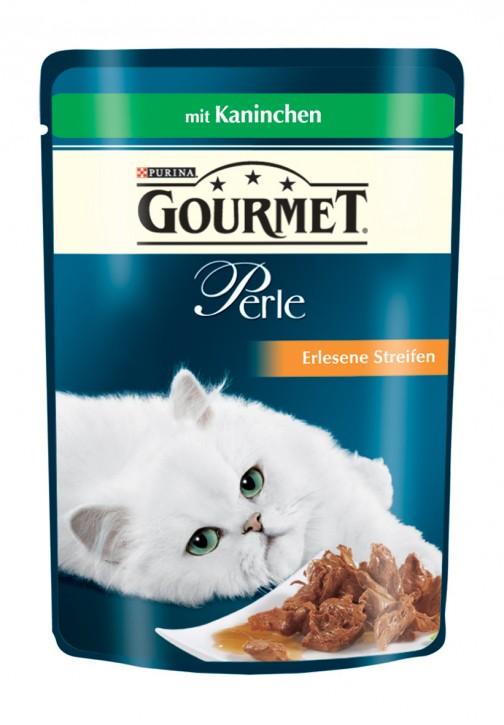 Gourmet Perle Erlesene Streifen mit Kaninchen Portionsbeutel 24 x 85 g