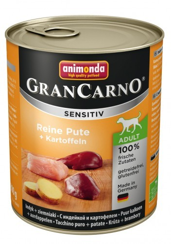 Animonda Dog Gran Carno Sensitiv Adult Reine Pute plus Kartoffeln 6 x 800 g