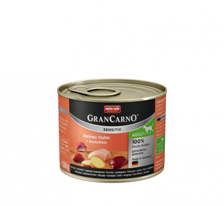 Animonda Dog Gran Carno Sensitiv Adult Reines Huhn plus Kartoffeln 200 g
