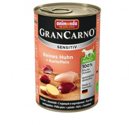 Animonda Dog Gran Carno Sensitiv Adult Reines Huhn plus Kartoffeln 400 g