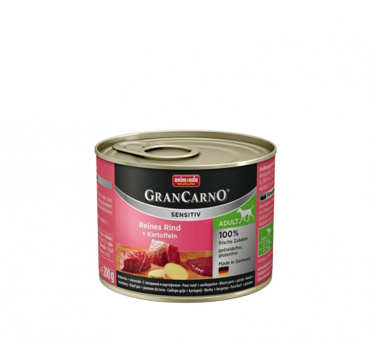 Animonda Dog Gran Carno Sensitiv Adult Reines Rind plus Kartoffeln 200 g