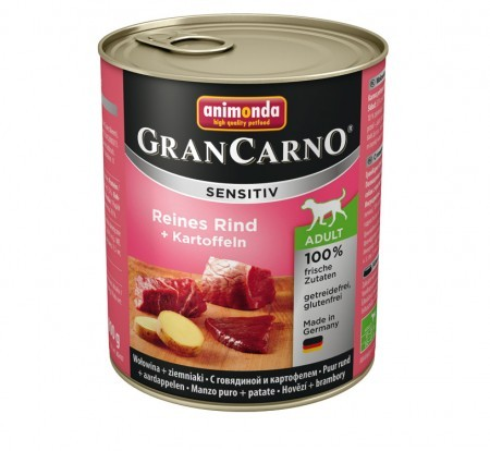Animonda Dog Gran Carno Sensitiv Adult Reines Rind plus Kartoffeln 6 x 800 g