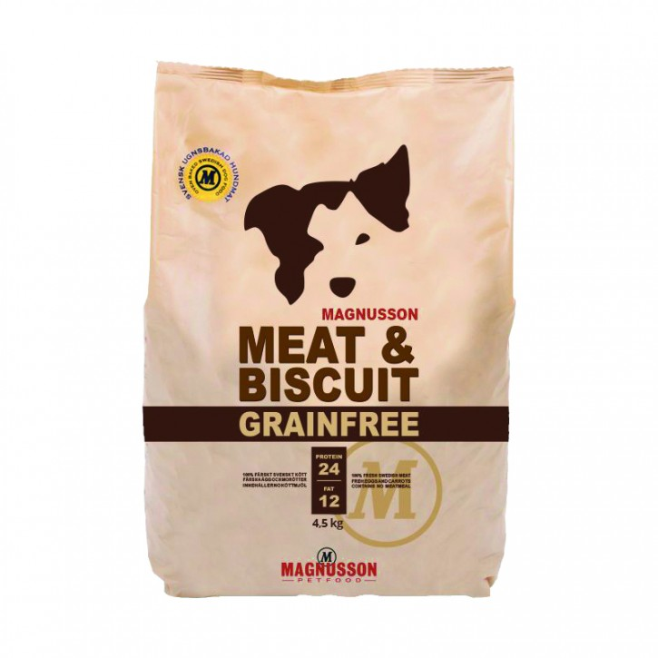 Magnusson Petfood Meat & Biscuit Grain Free Adult 4,5 kg