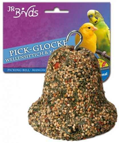 JR Farm Birds Pick Glocke Wellensittich und Kanarien 5 x 150 g