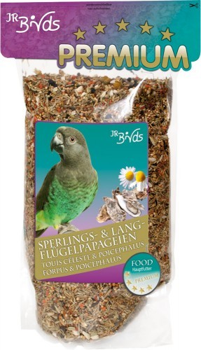 JR Farm Birds Premium Sperlings- und Langflügelpapagei 4 x 1 kg